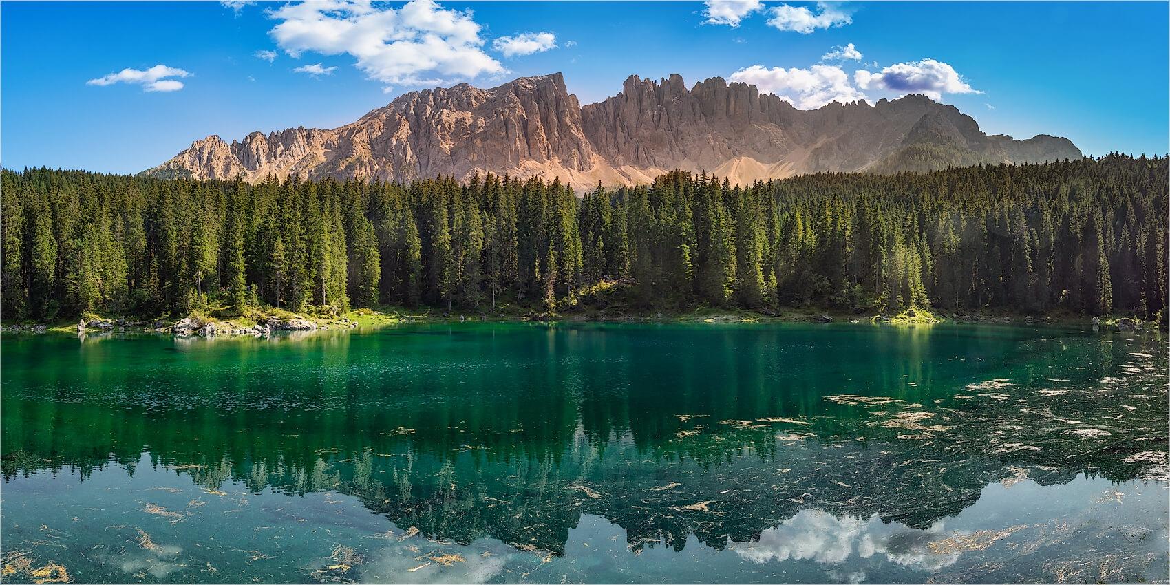 Panoramabild Karersee Dolomiten Italien