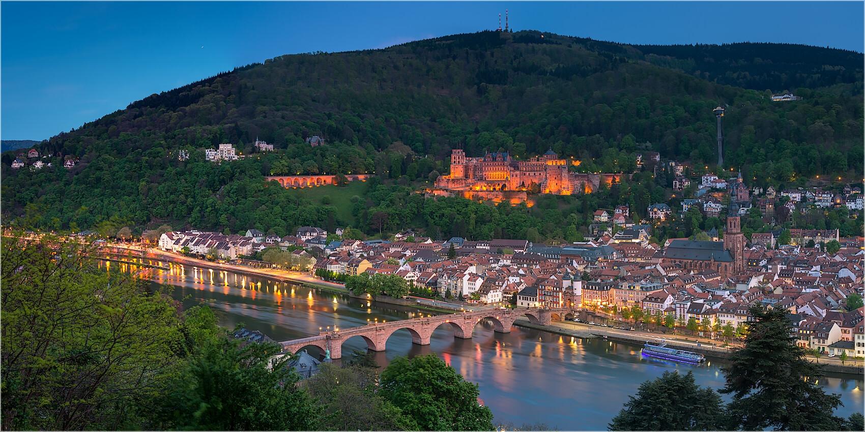 Panoramabild Heidelberg vom Phiolsophenweg