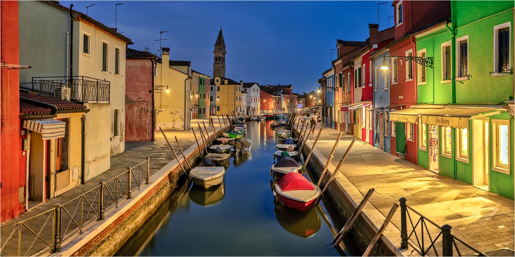 Panoramabild Bunte Häuser  Burano Venedig