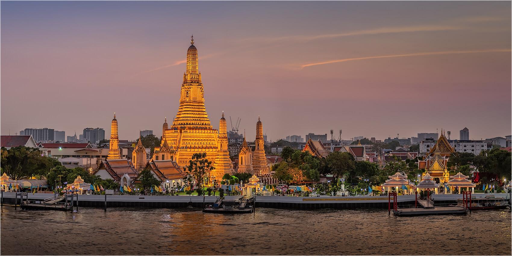 Panoramabild Wat Aurun Tempel Bangkok