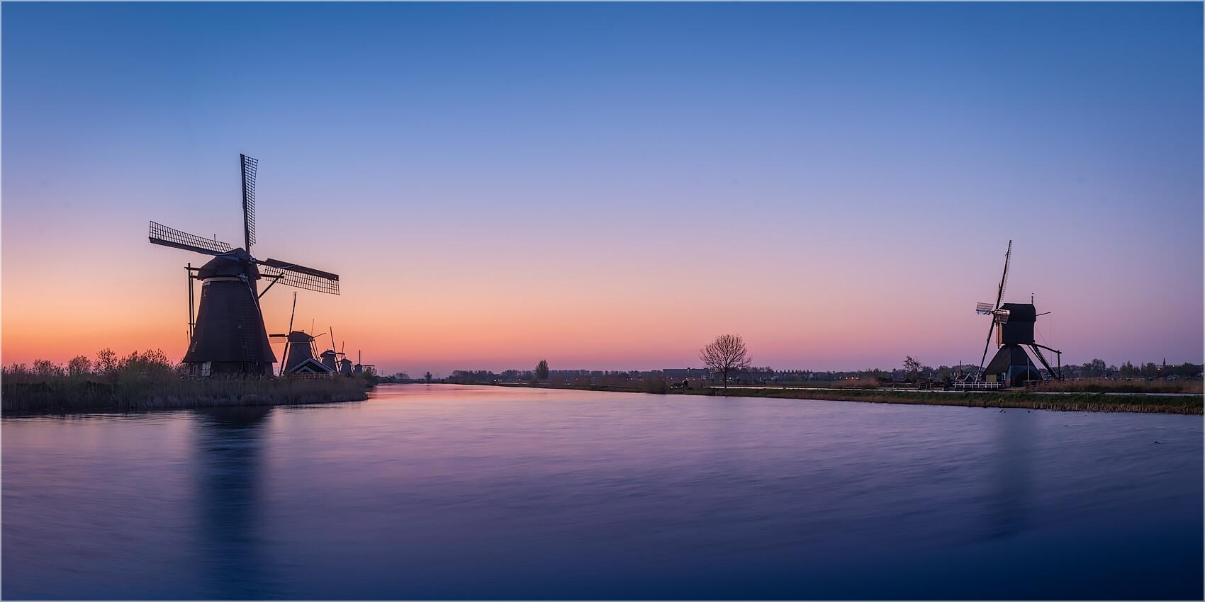 Panoramabild Windmühlen Kinderdijk Holland