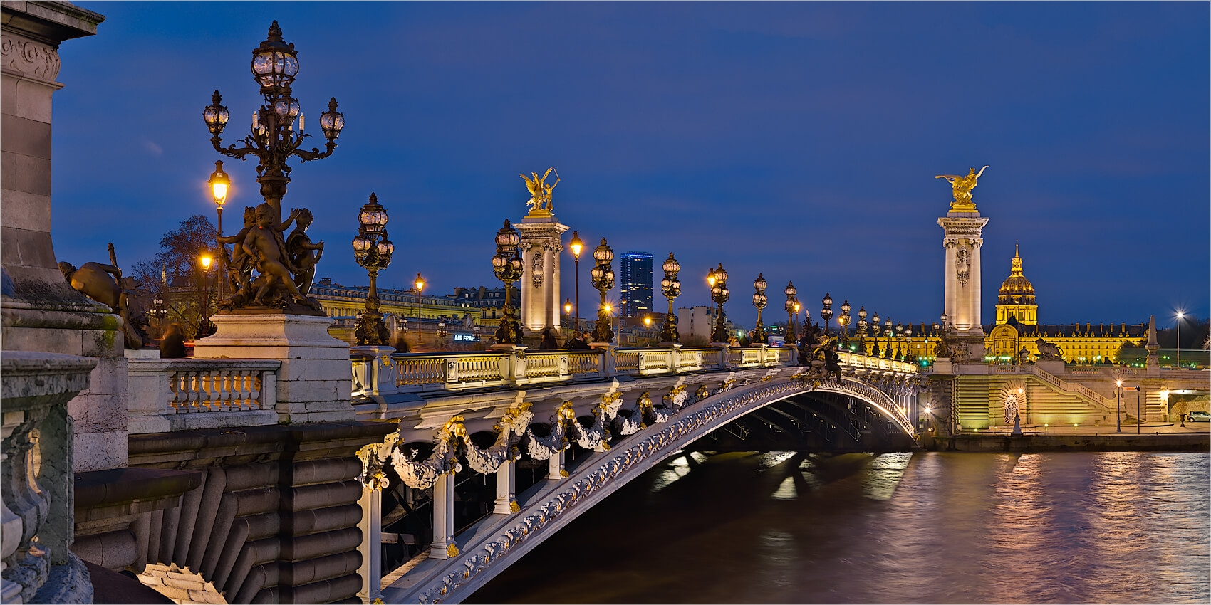 Panoramabild Pont Alexandre III Paris Frankreich