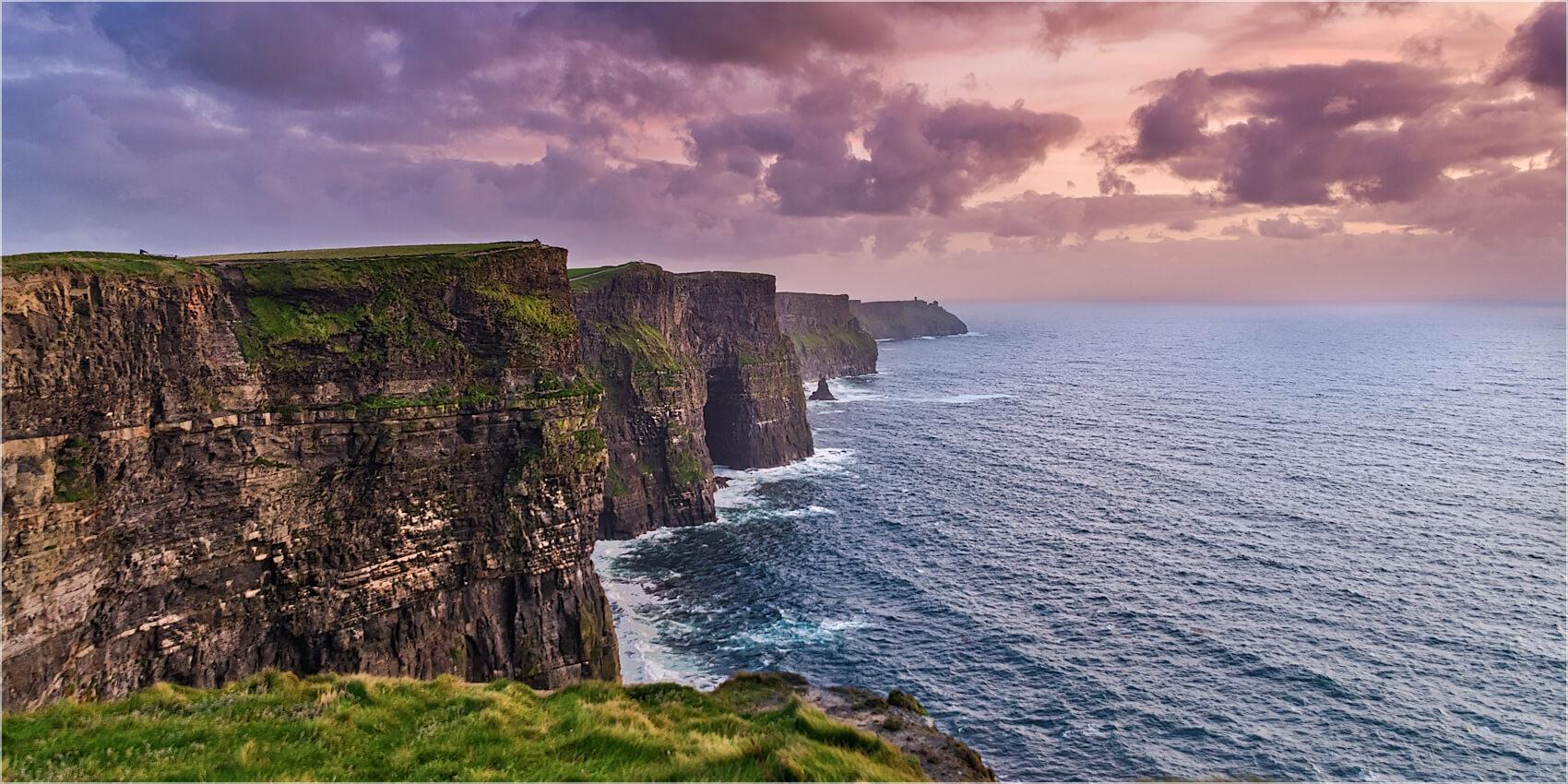Panoramabild Cliffs of Moher Irland