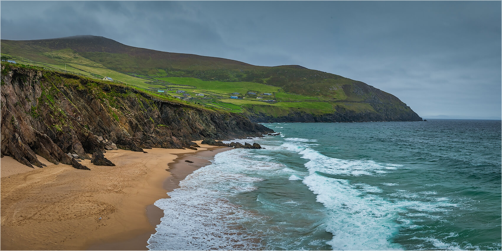 Panoramabild am Wild Atlantik Way Irland