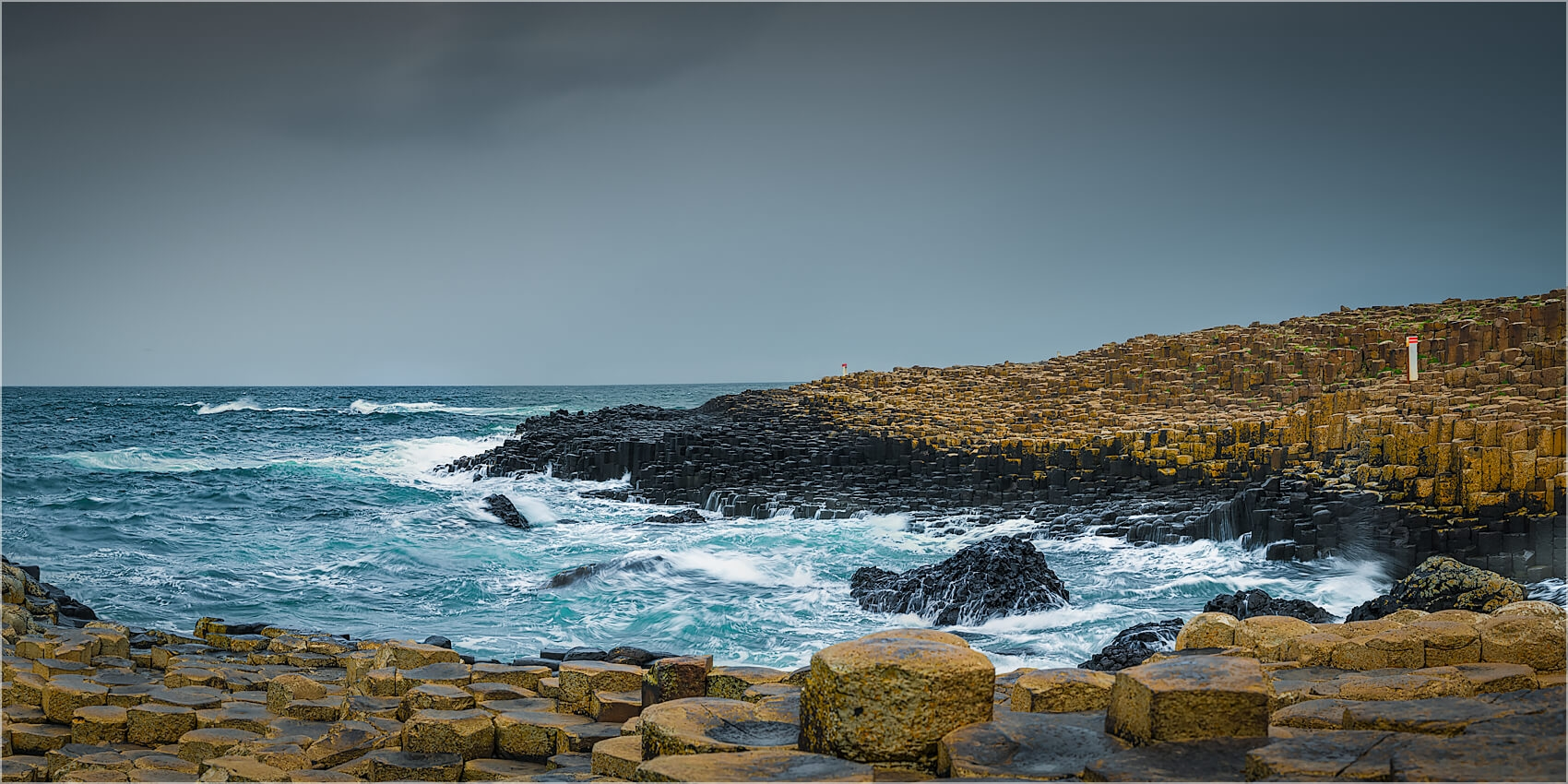 Panoramabild Atlantikküste Irland Giants Causeway