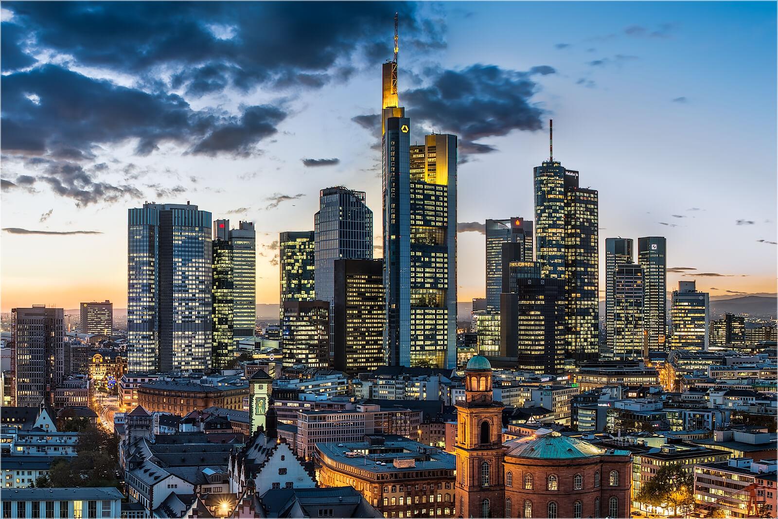 Wandbild Im Bankenviertel Frankfurt/Main