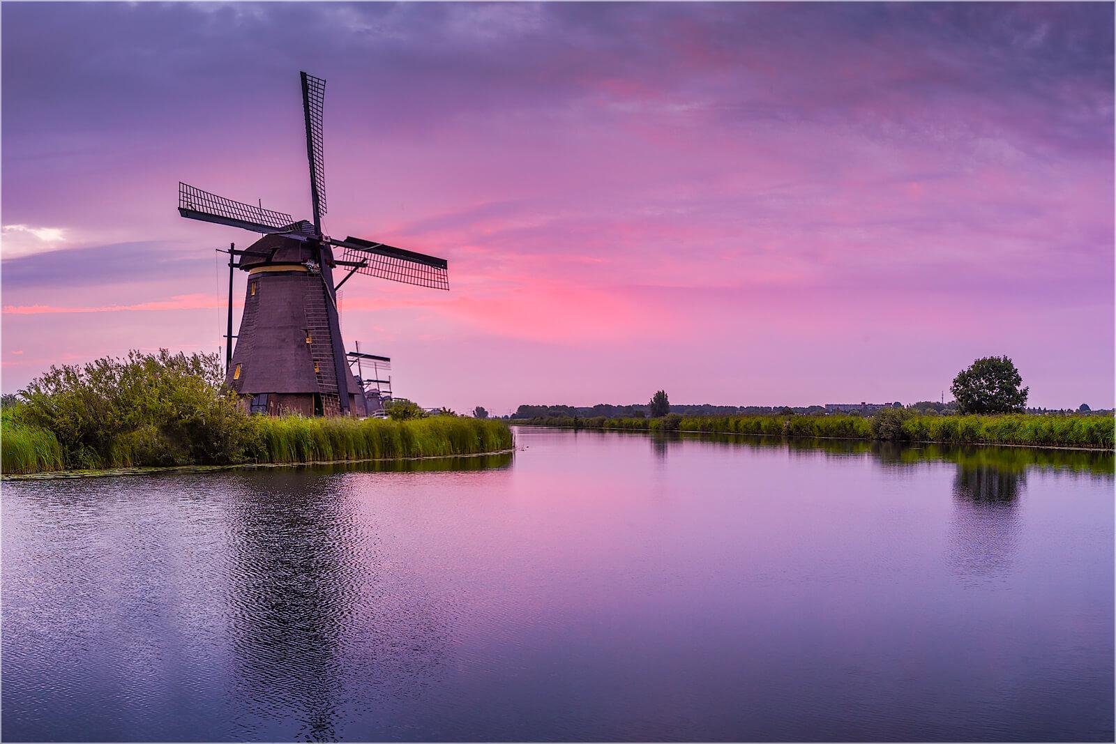 Wanddeko Windmühle in Kinderdijk Holland