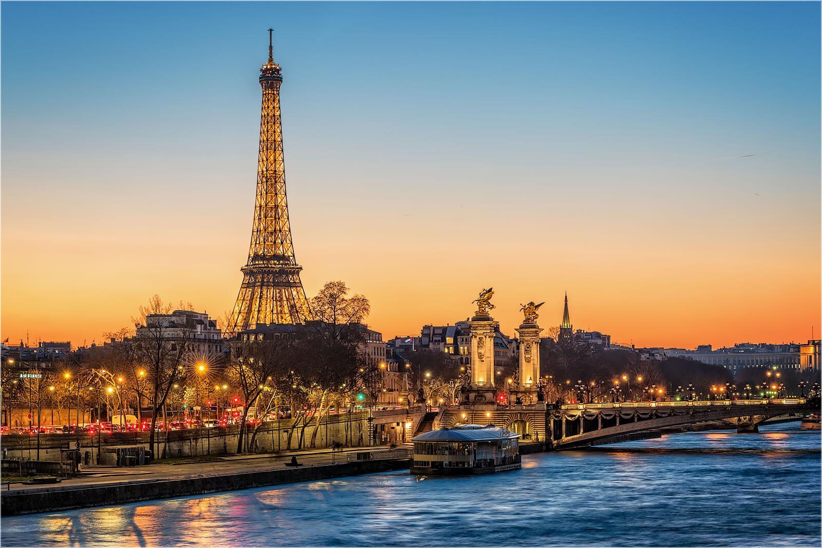 Wanddeko An der Seine in Paris Frankreich
