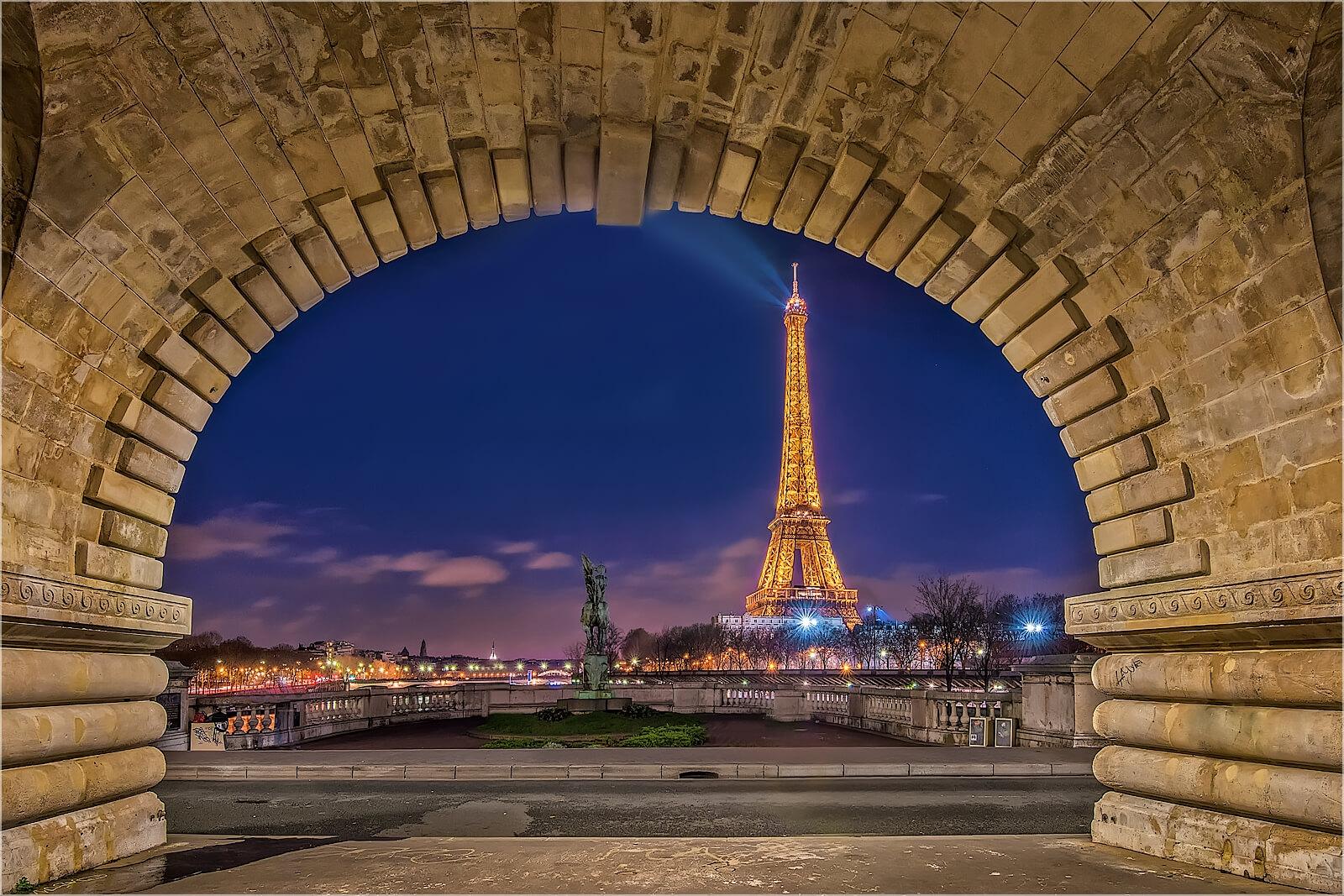 Wandbild Unter den Brücken von Paris