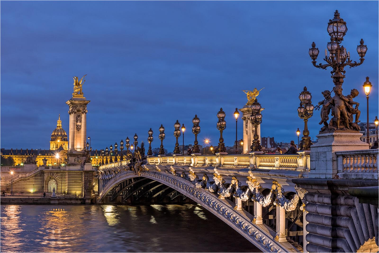 Wanddeko Am Pont Alexandre III Paris
