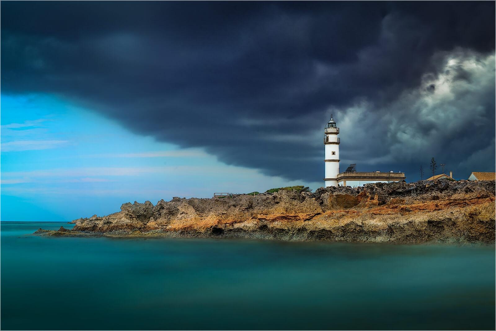 Wanddeko Leuchtturm  Ses Salinas Mallorca