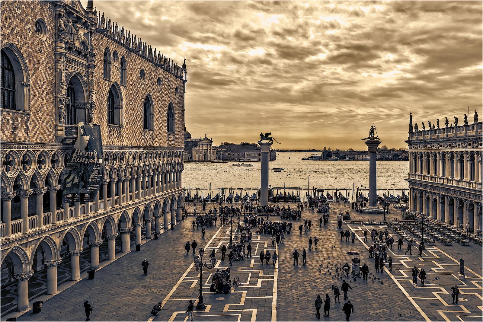 Wanddeko Italien Venedig Markusplatz