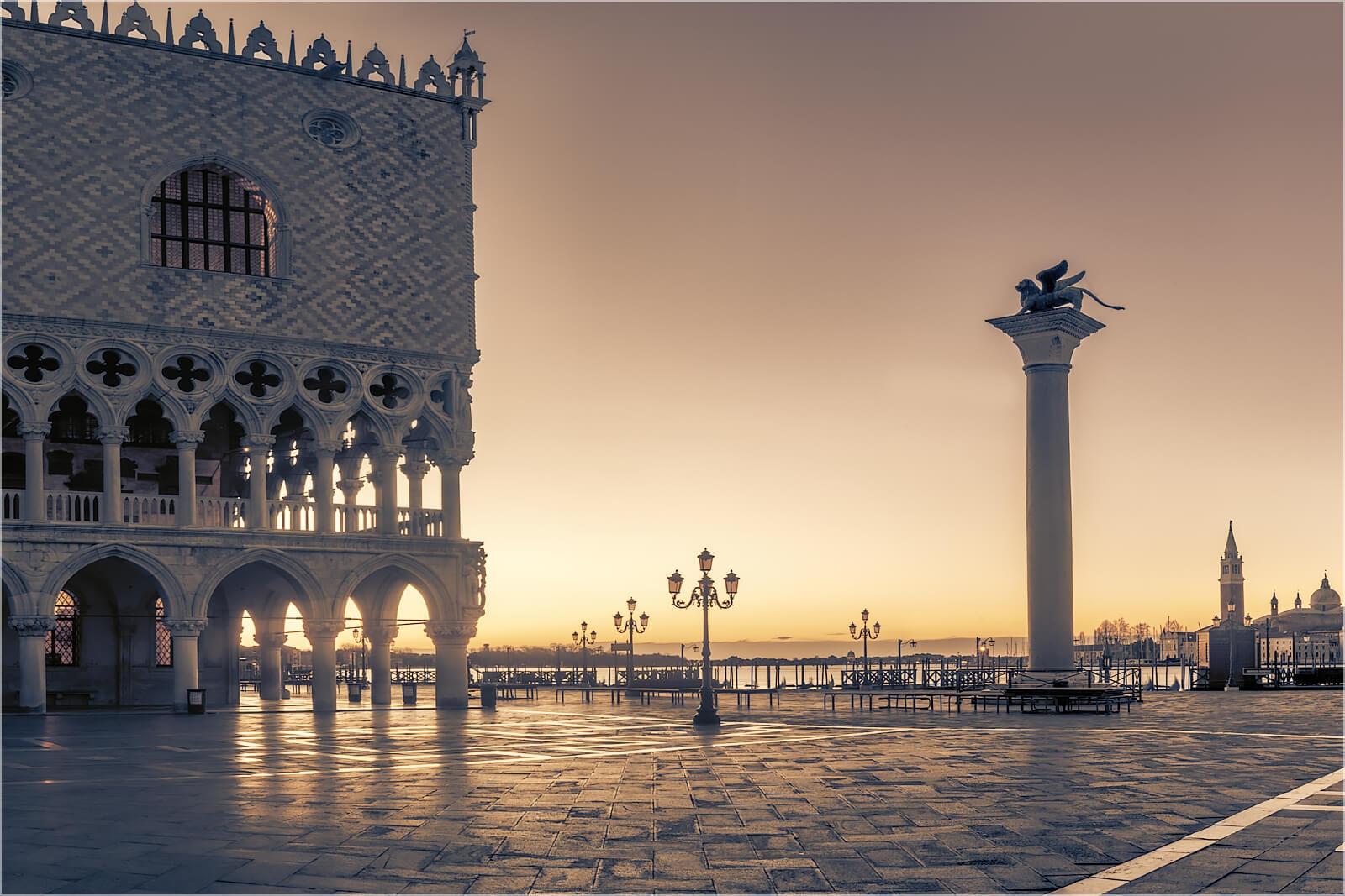 Wandbild Markusplatz Venedig
