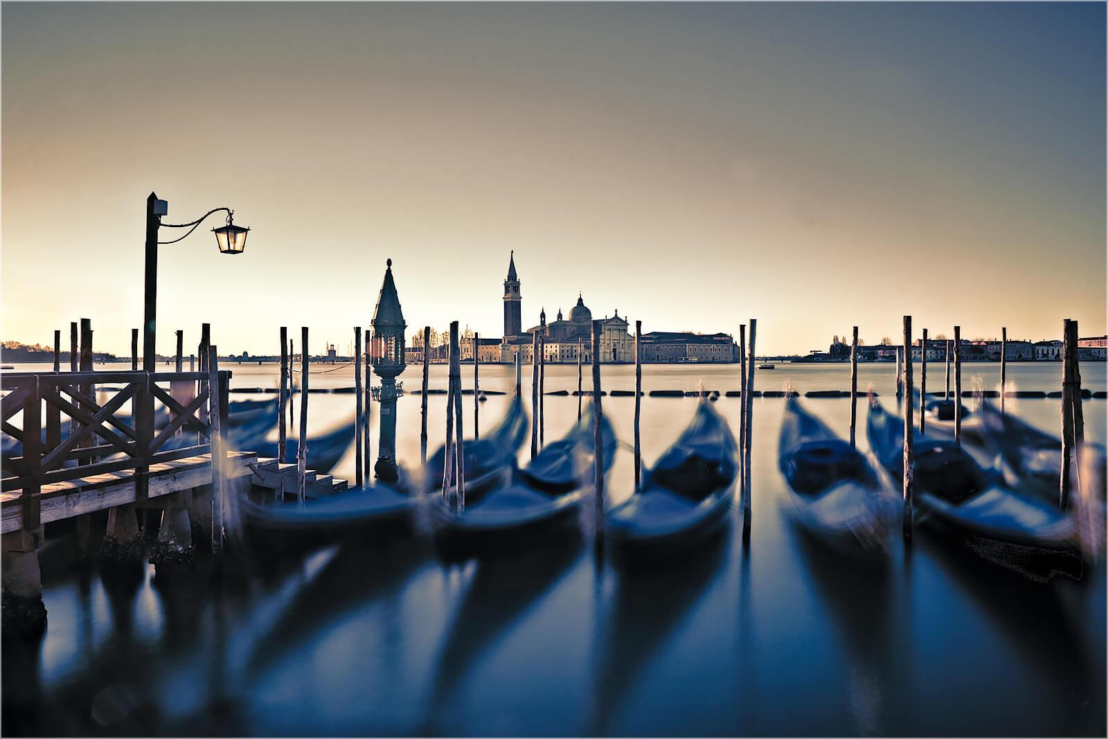 Wandbild Gondeln von Venedig