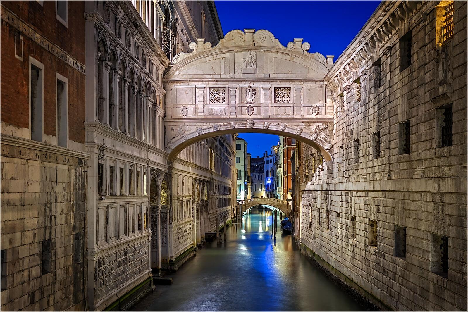 Wanddeko  Seufzerbrücke Venedig Italien