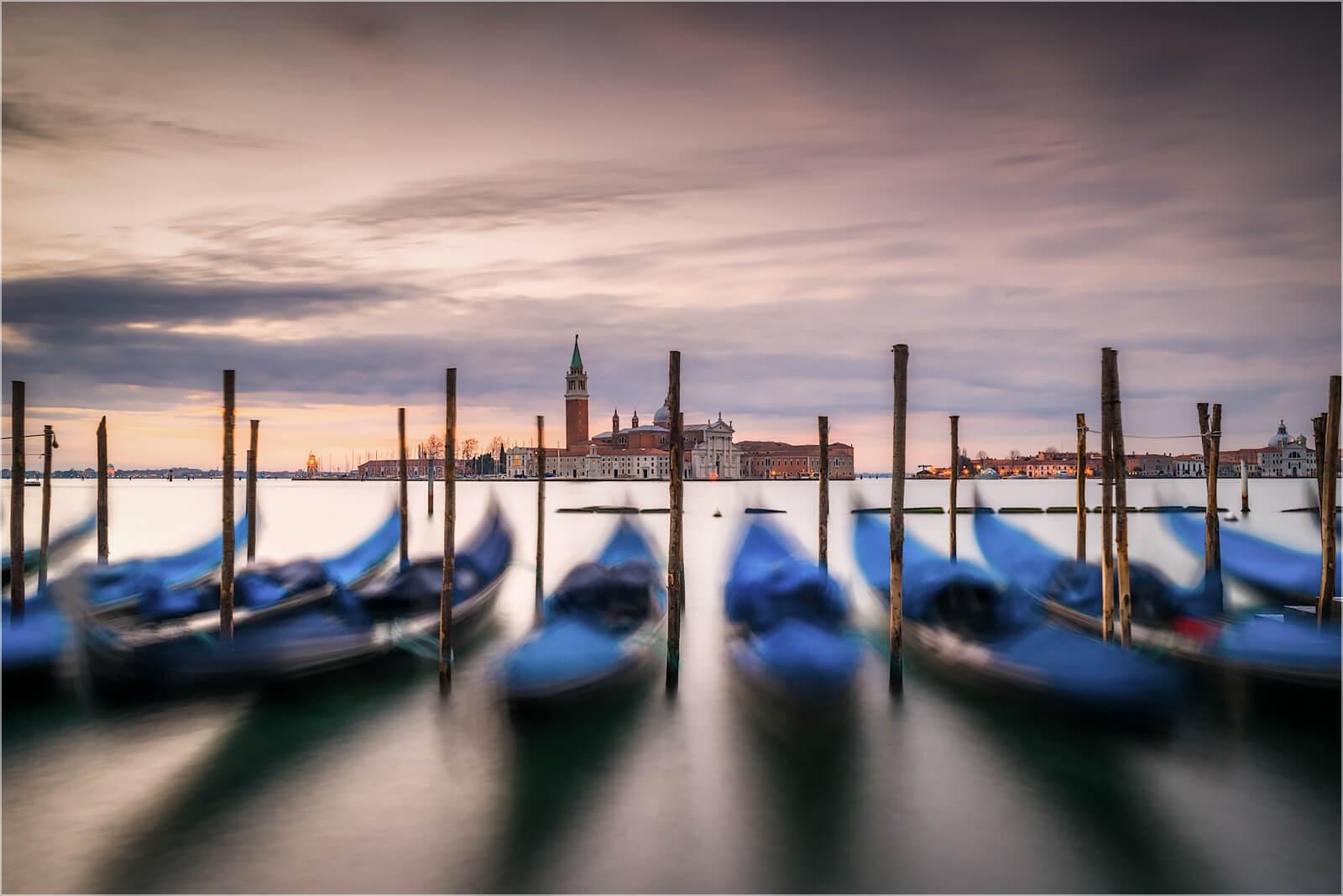 Wanddeko Gondeln Venedig Italien