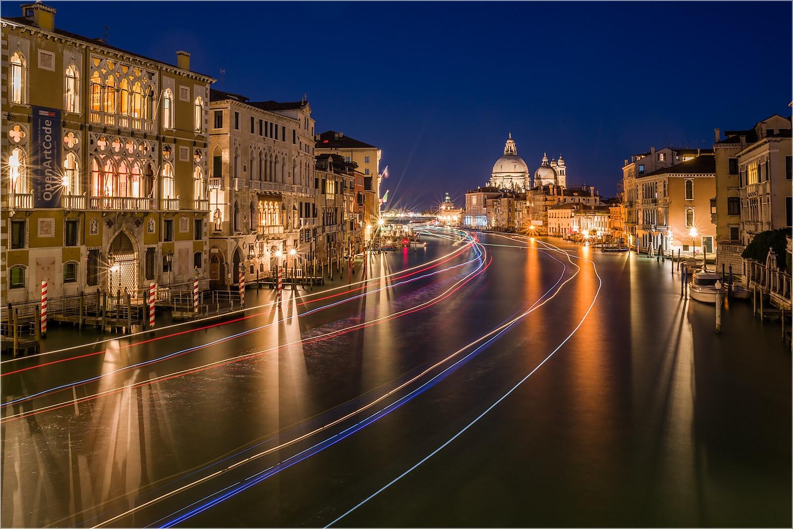Wanddeko Nachts am Canal Grande Venedig