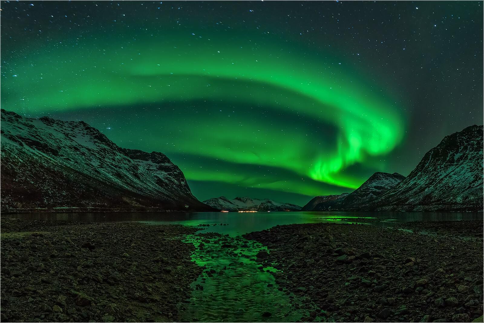 Wandbild Aurora Borealis Tromsø Norwegen