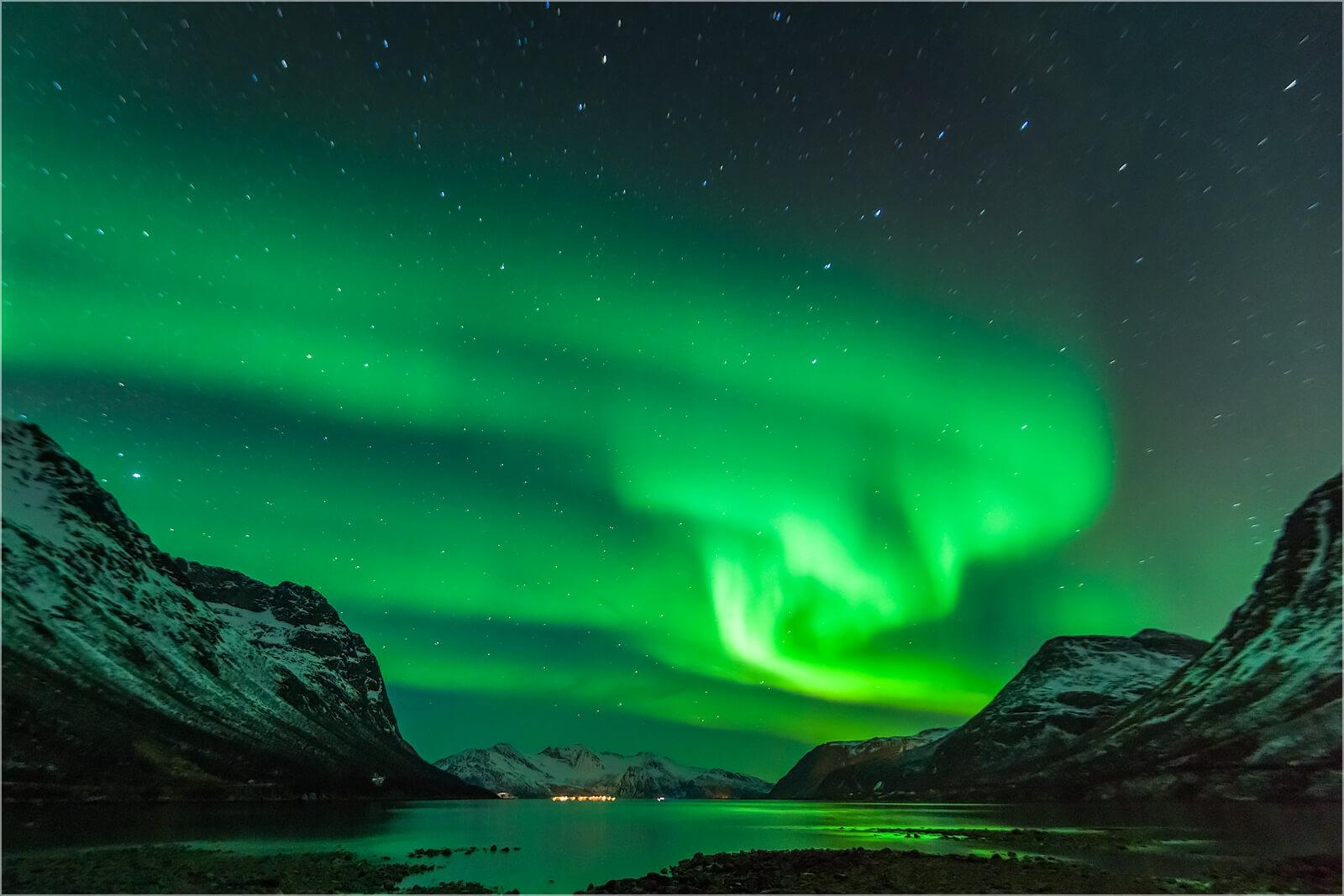 Wandbild Polarlicht in Norwegen