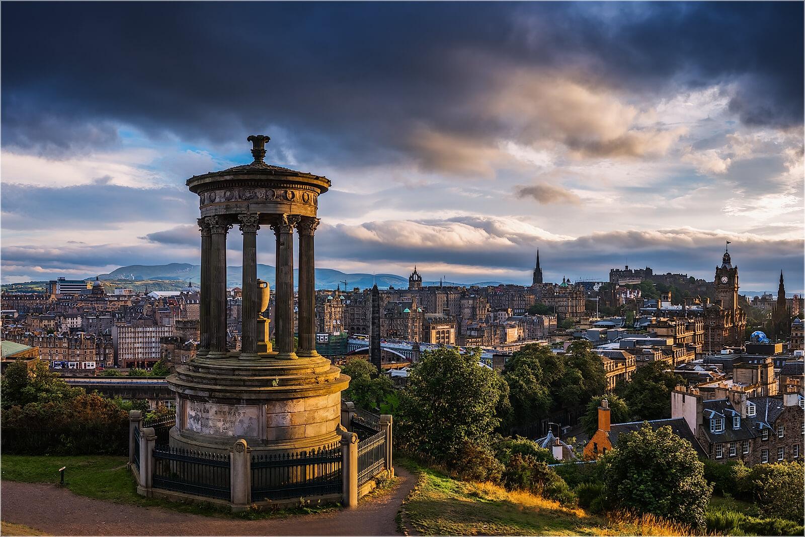 Wanddeko Calton Hill Edinburgh Schottland