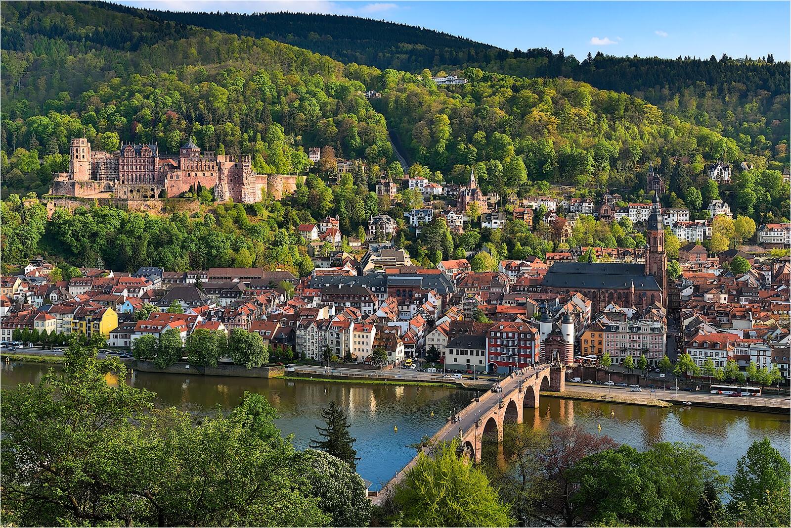 Wandbild Altstadtblick auf Heidelberg