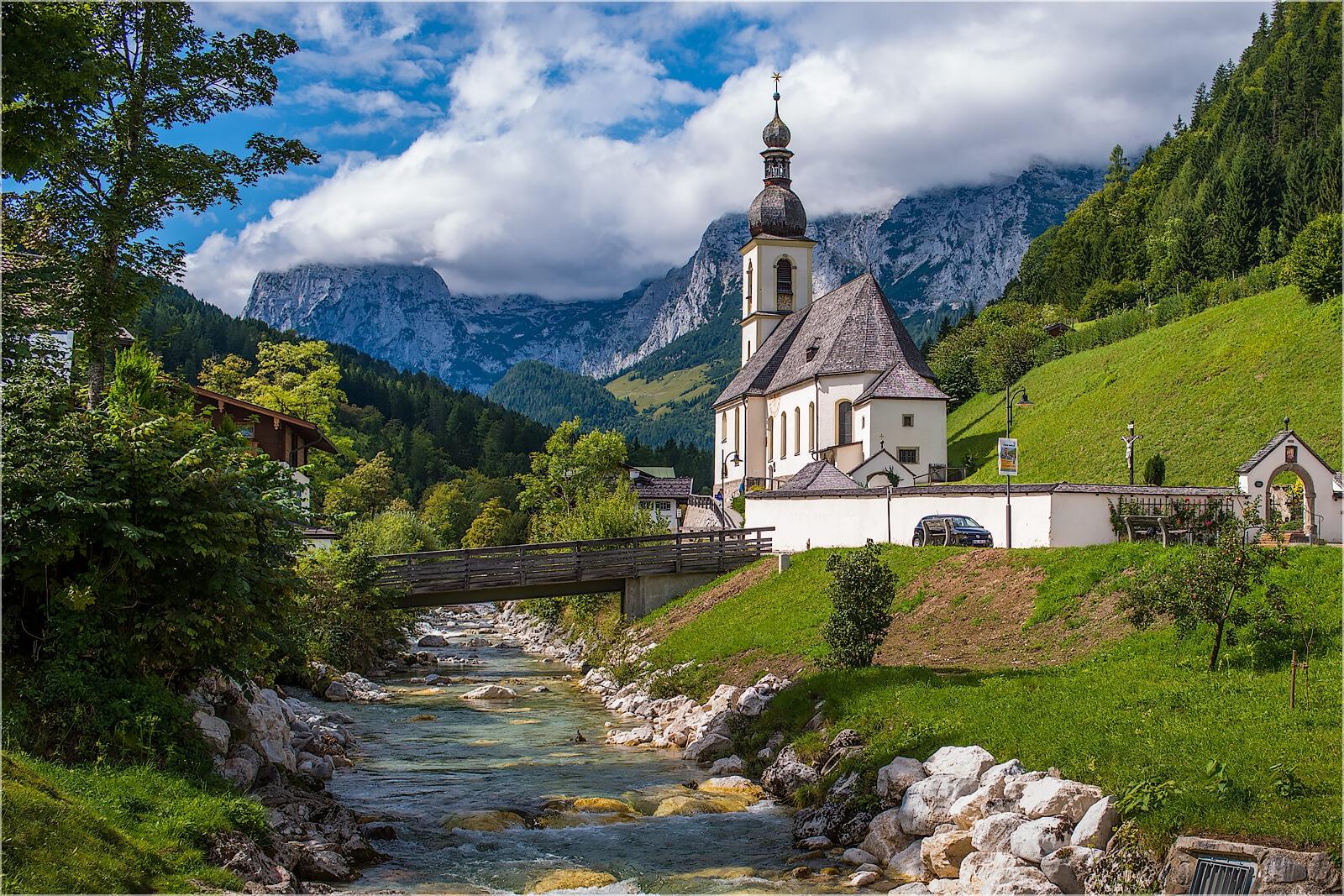 Wandbild Ramsau St. Sebastian Kirche