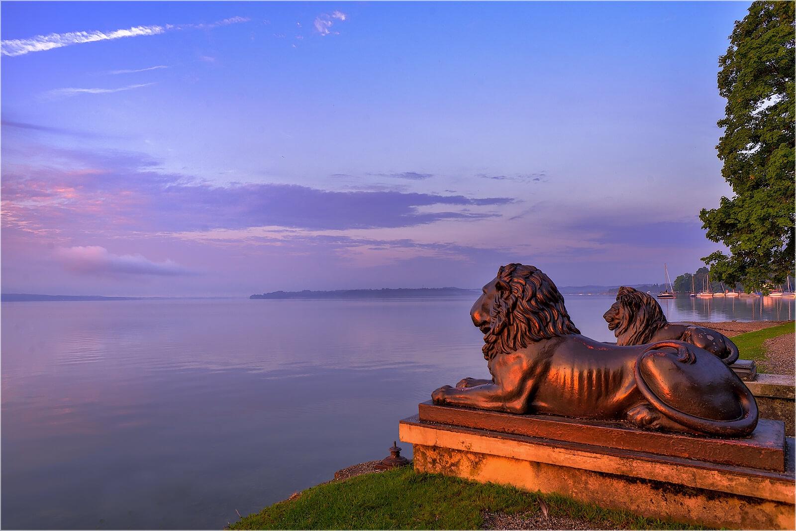Wanddeko Tutzing Löwen am Starnberger See