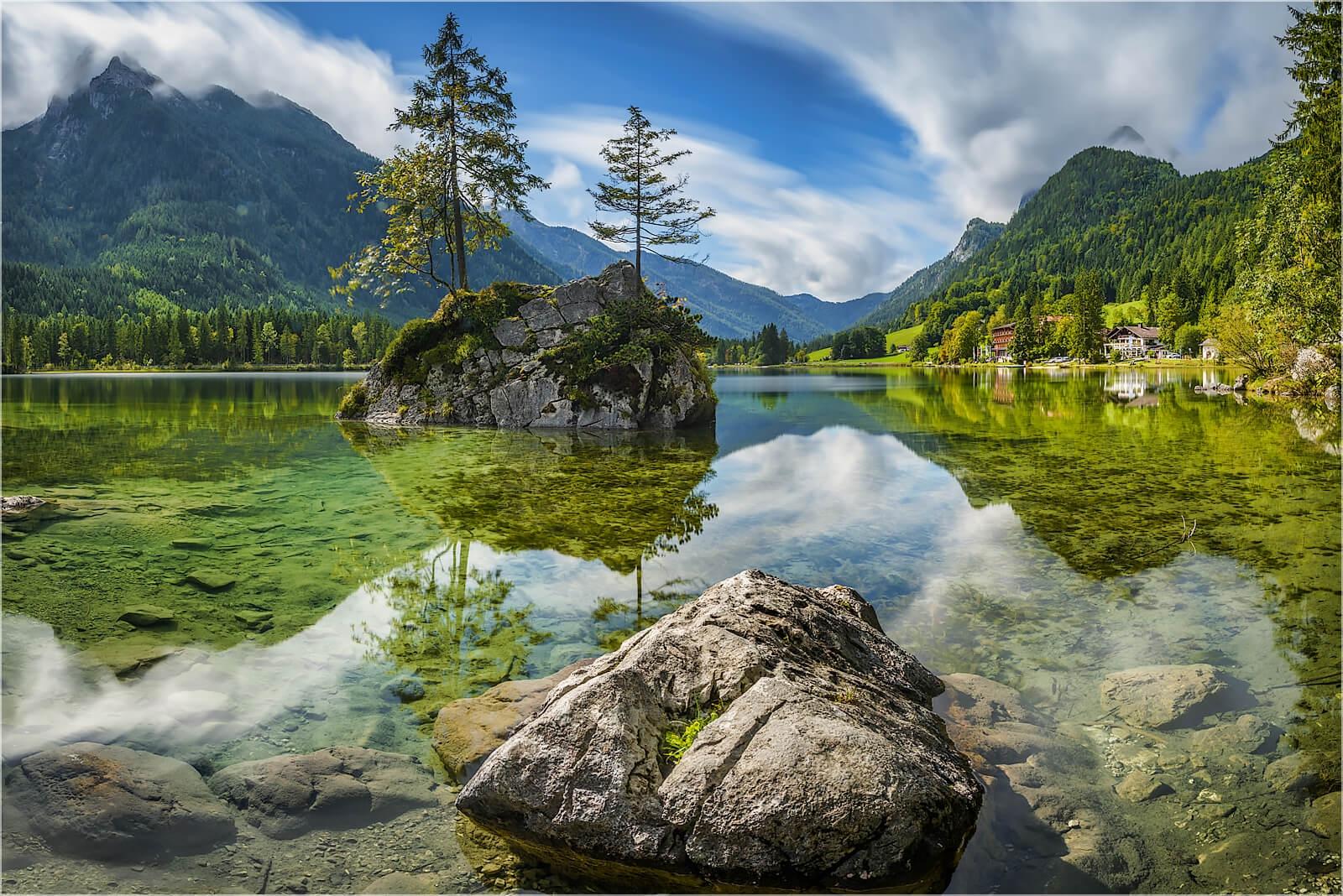Wanddeko Am  Hintersee Berchtesgaden