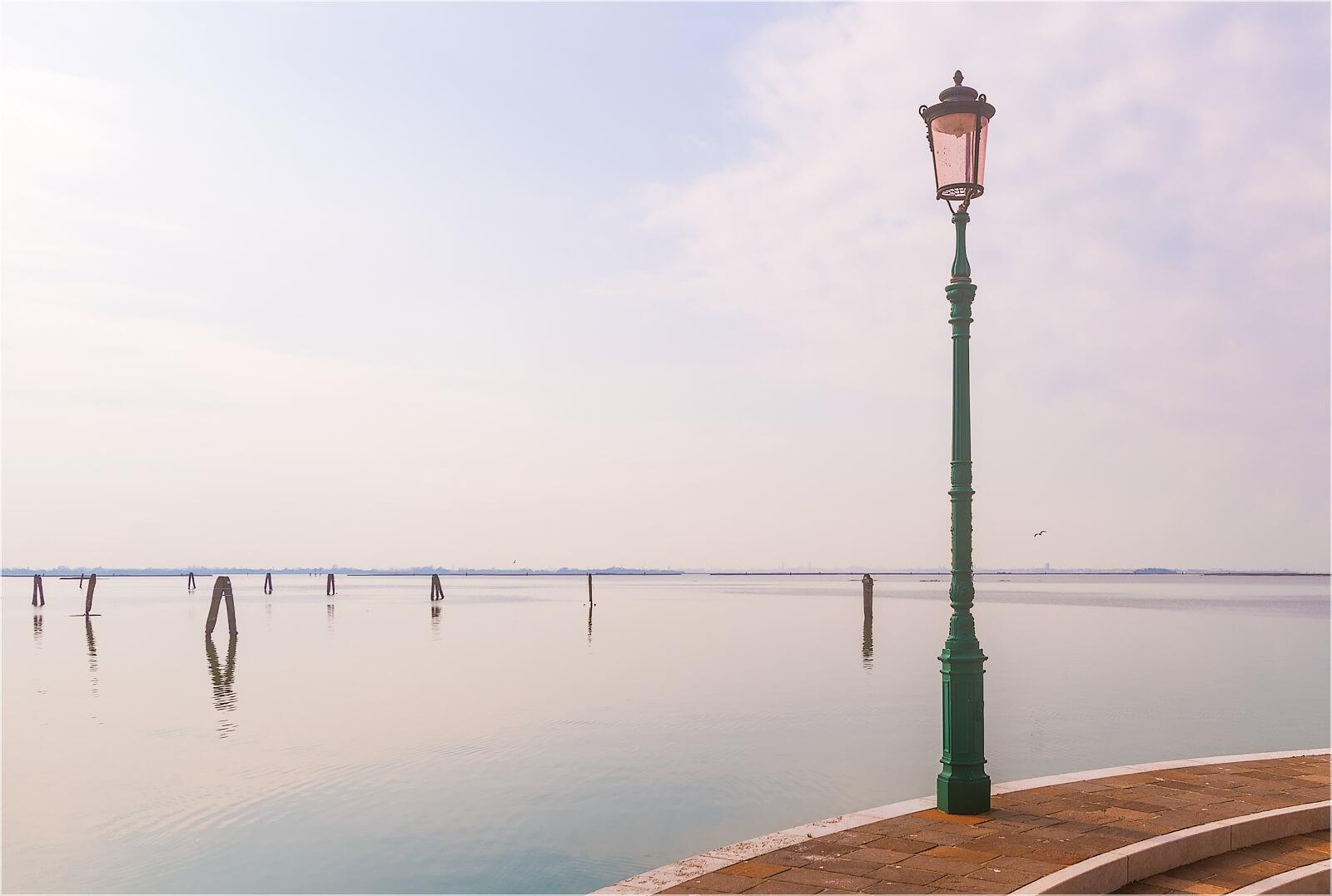 Wandbild Laterne Burano Venedig