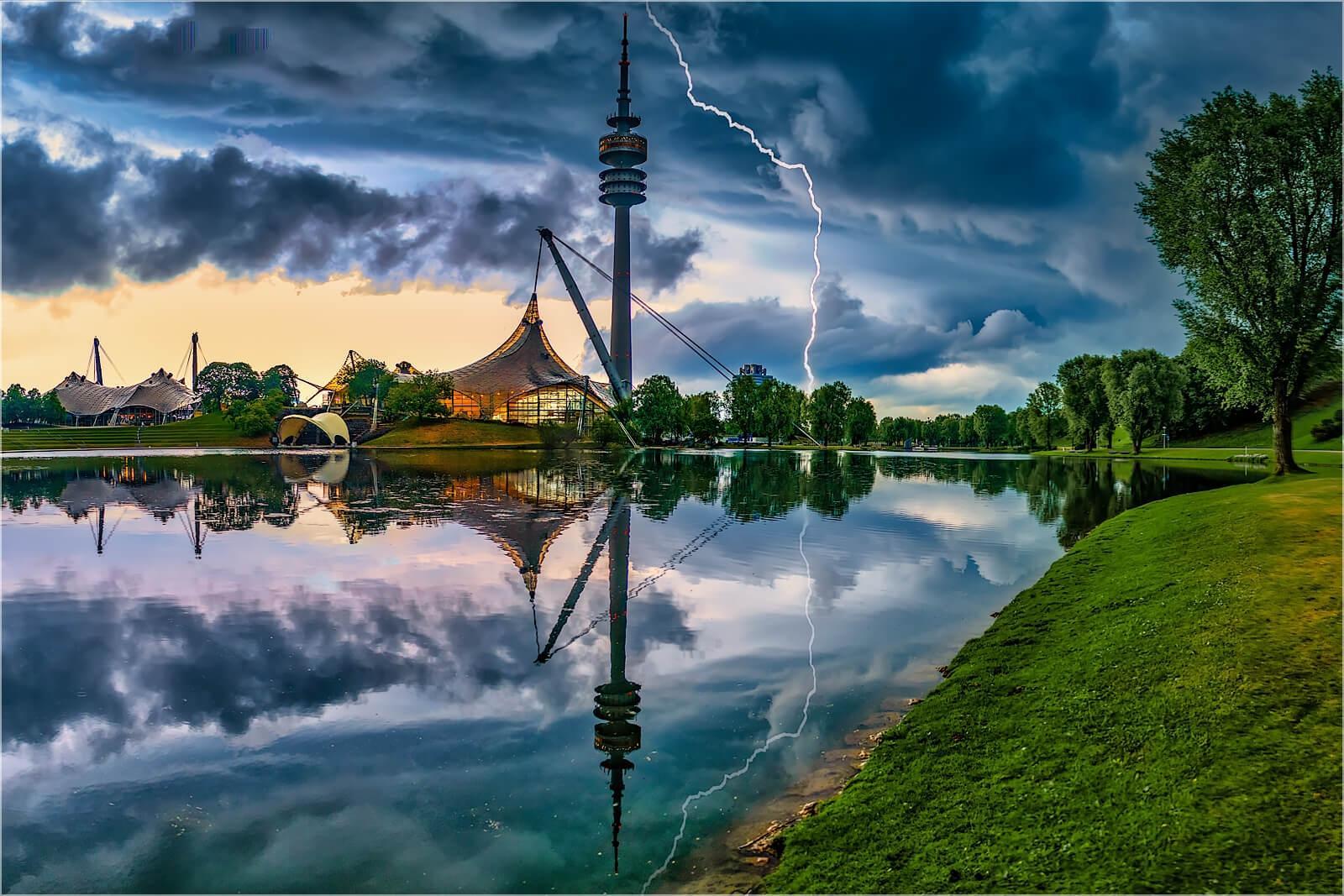 Wanddeko Gewitter Olympiapark München