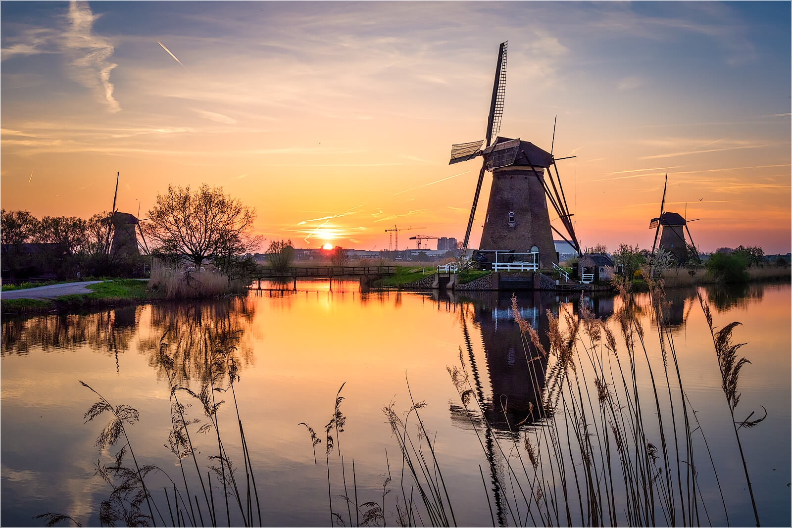 Wanddeko Windmühlen von Holland