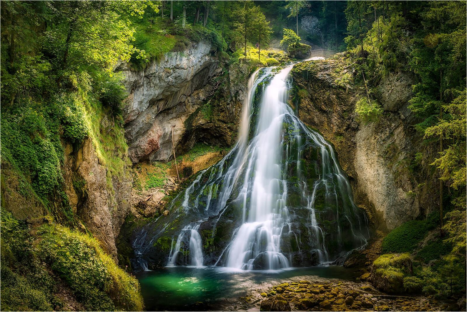 Wanddeko Romantischer Wasserfall Golling