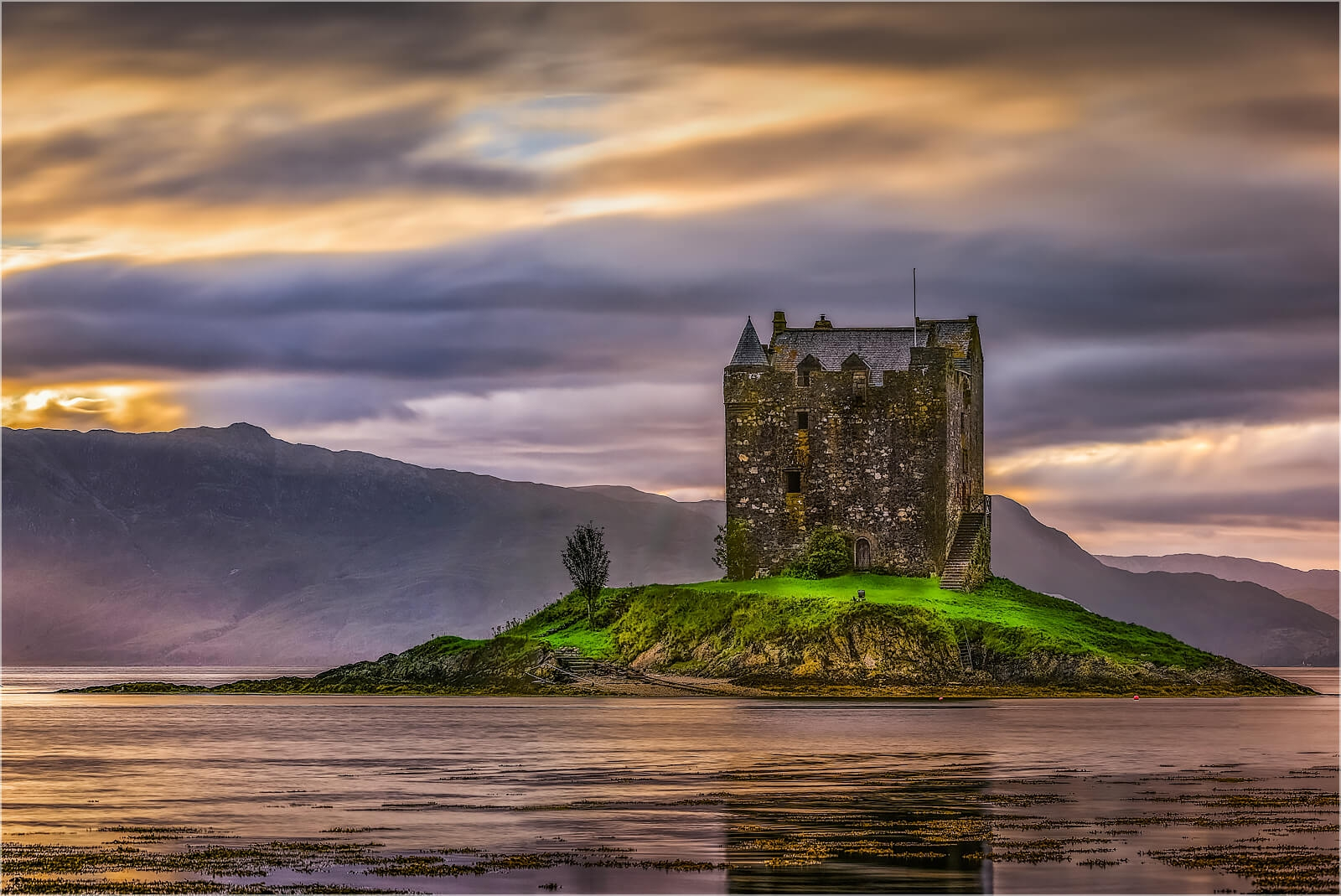 Wandbild Castle Stalker Schottland