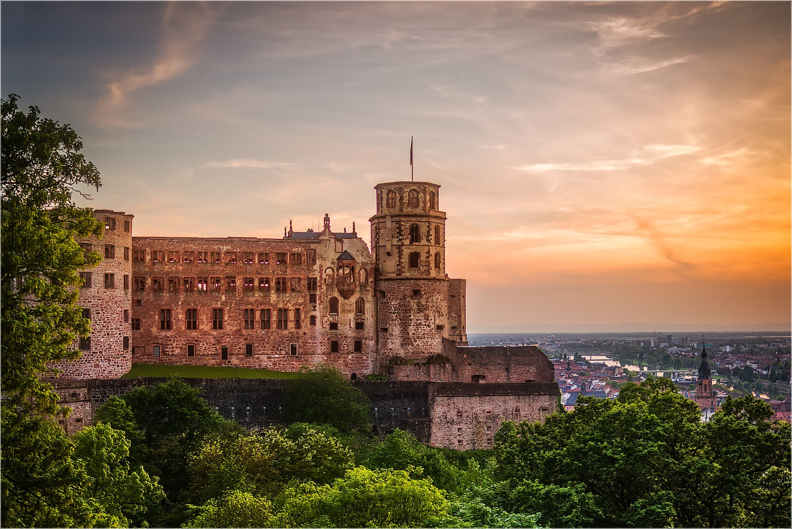Wandbild das Heidelberger Schloß