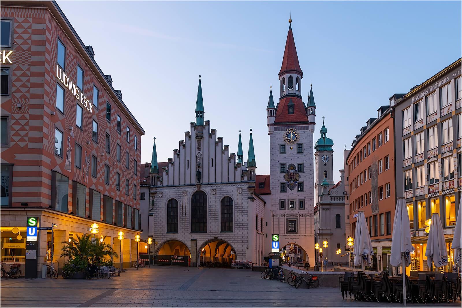 Wandbild München altes Rathaus