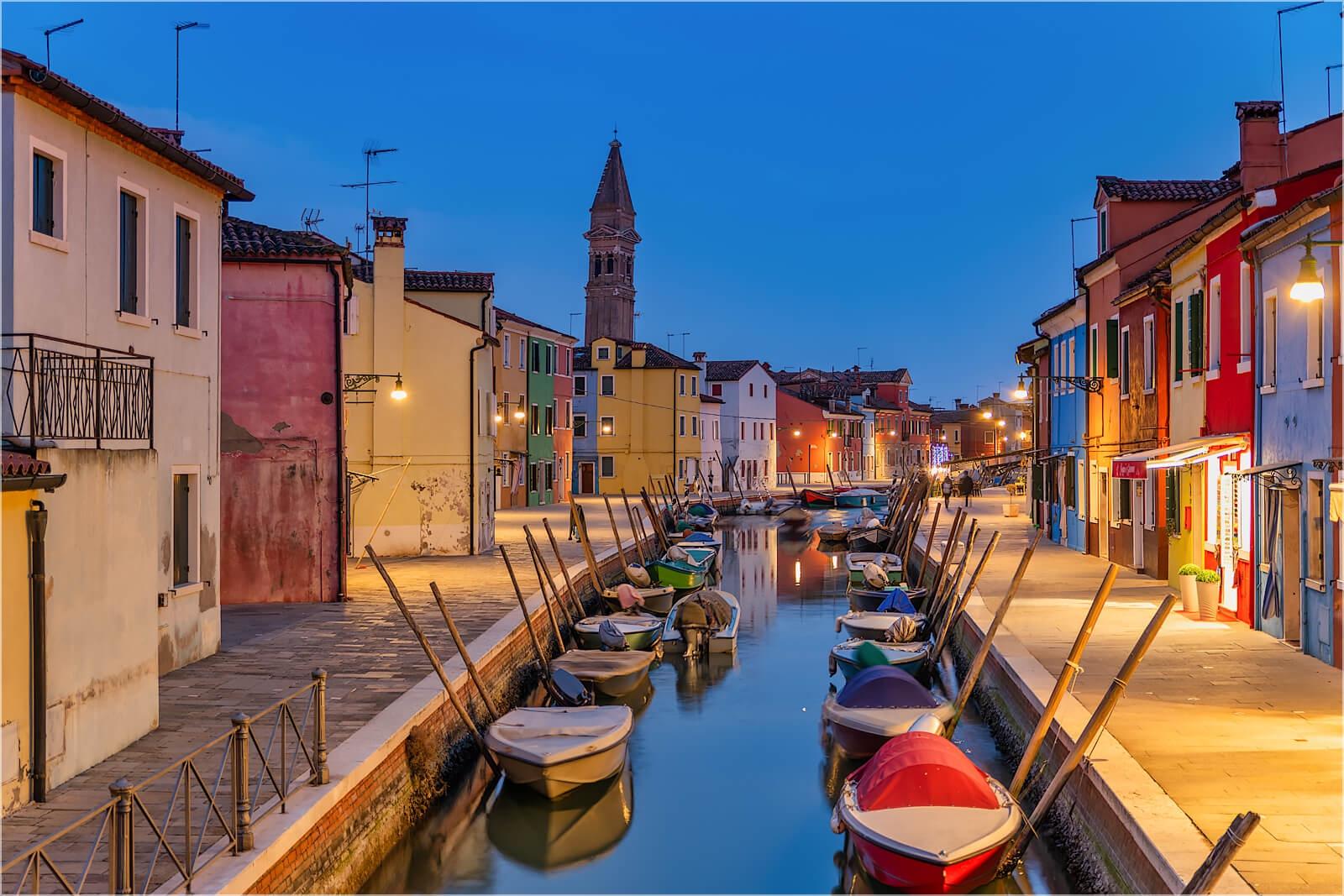 Wanddeko Auf Burano bei Venedig