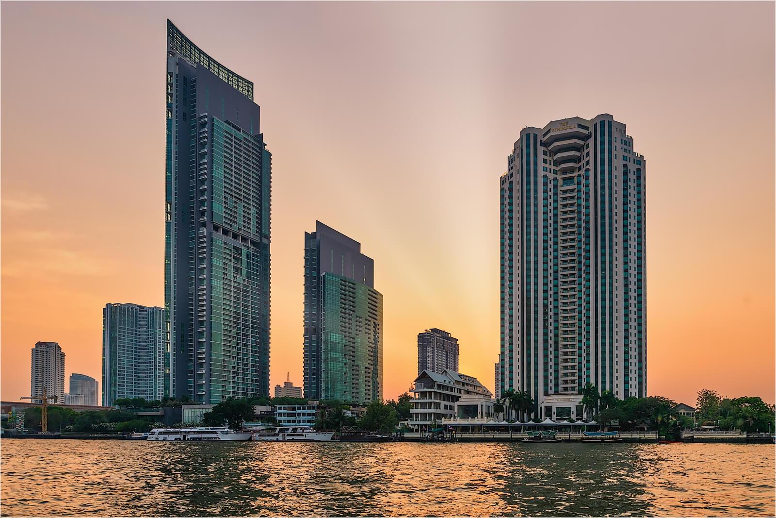 Wanddeko Chao Phraya Fluss Bangkok