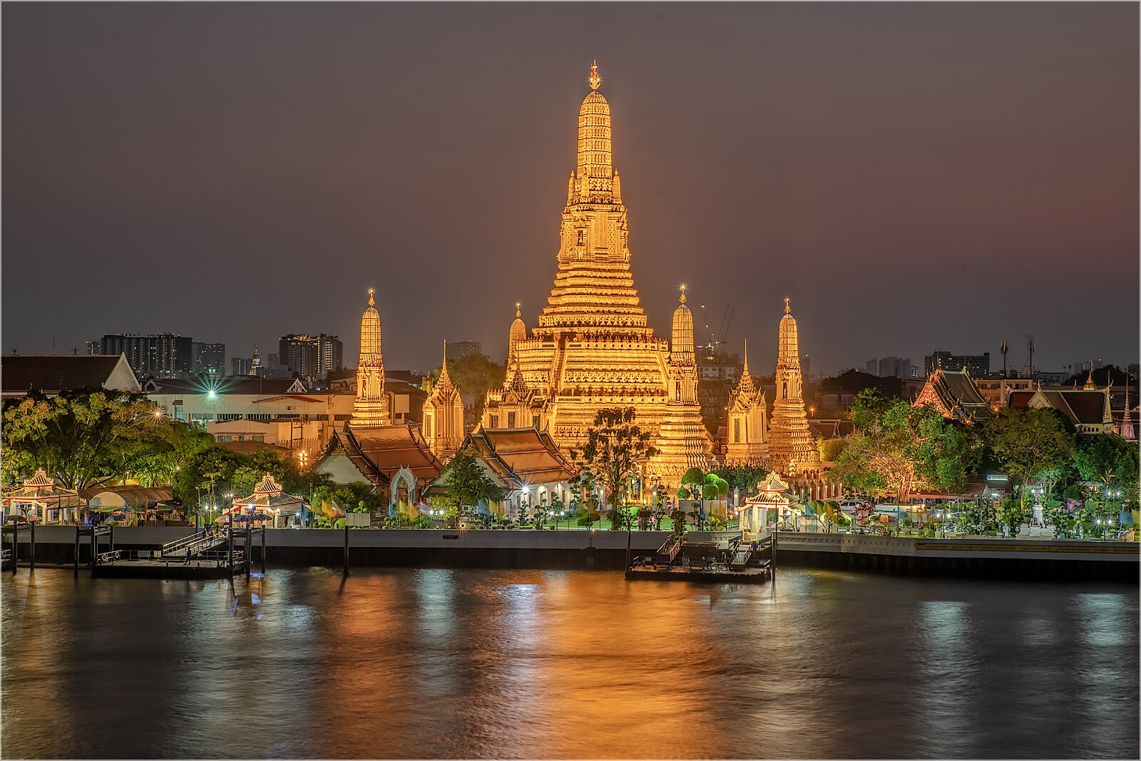 Wandbild Wat Aurun Tempel in Bangkok