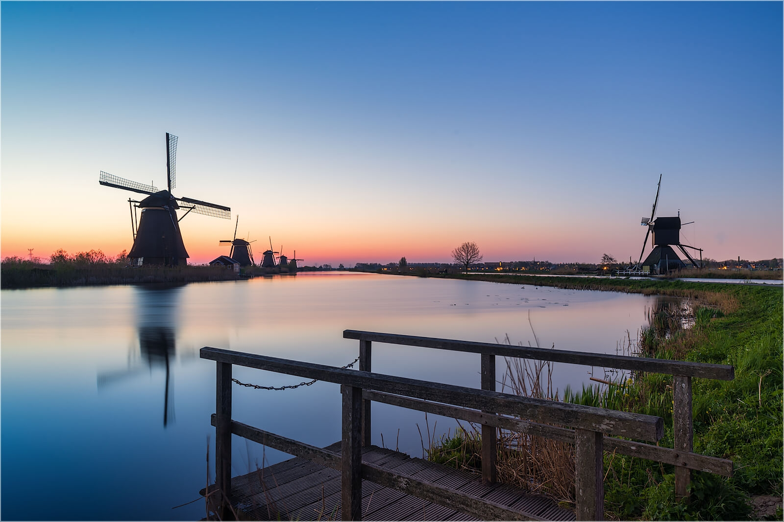 Wandbild Frühmorgens in Holland