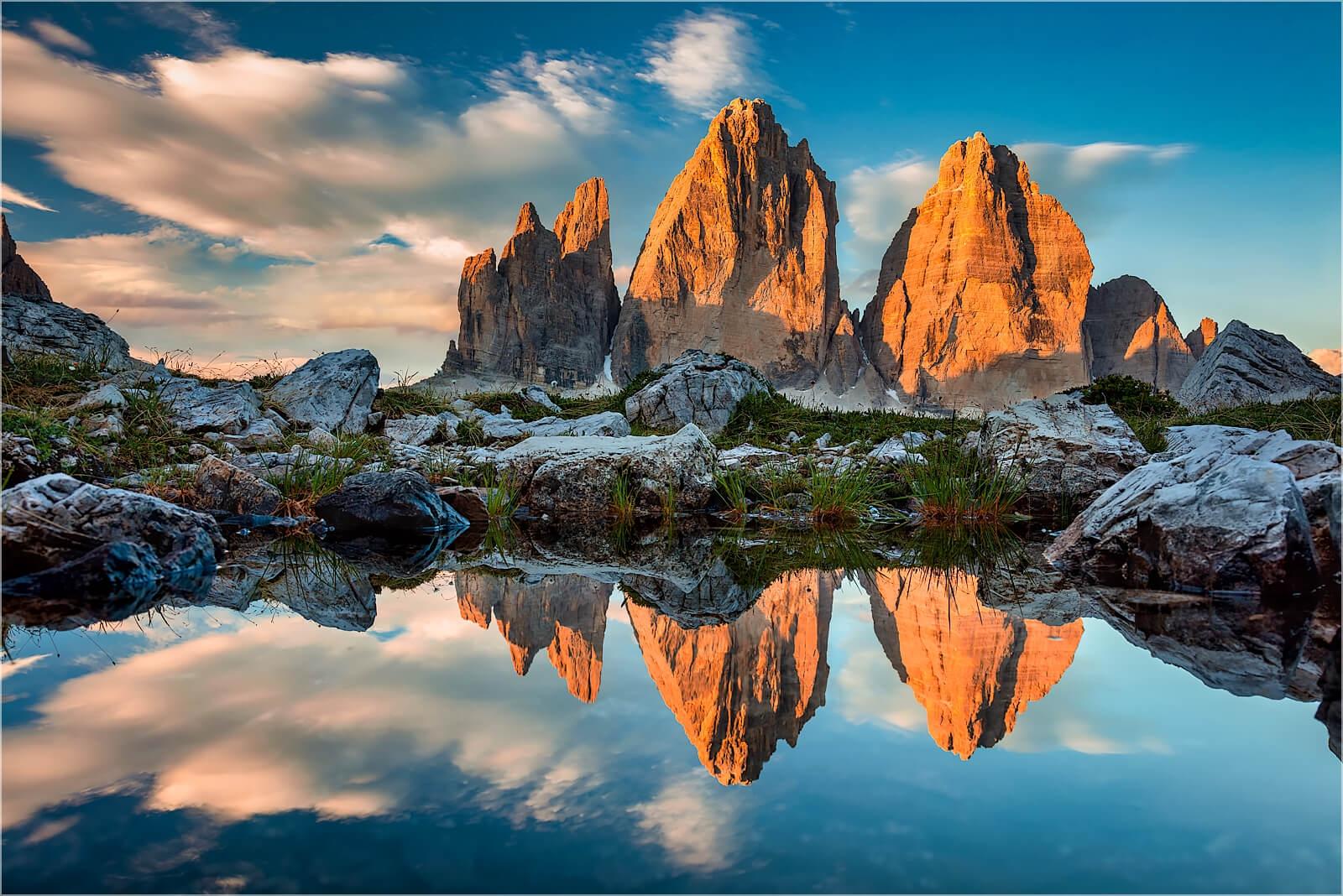 Wandbild Drei Zinnen Dolomiten