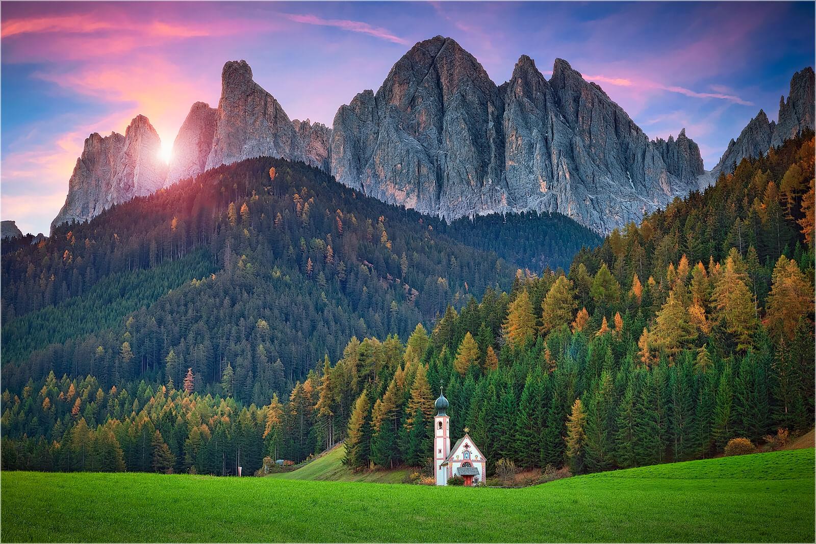 Wanddeko St. Magdalena Dolomiten