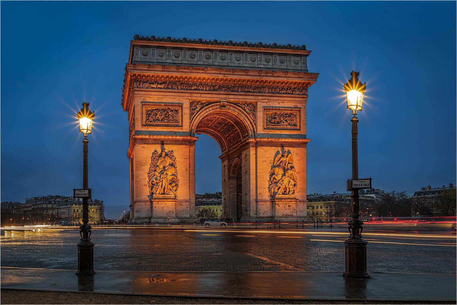 Wandbild Paris Arc De Triomphe de l'Étoile
