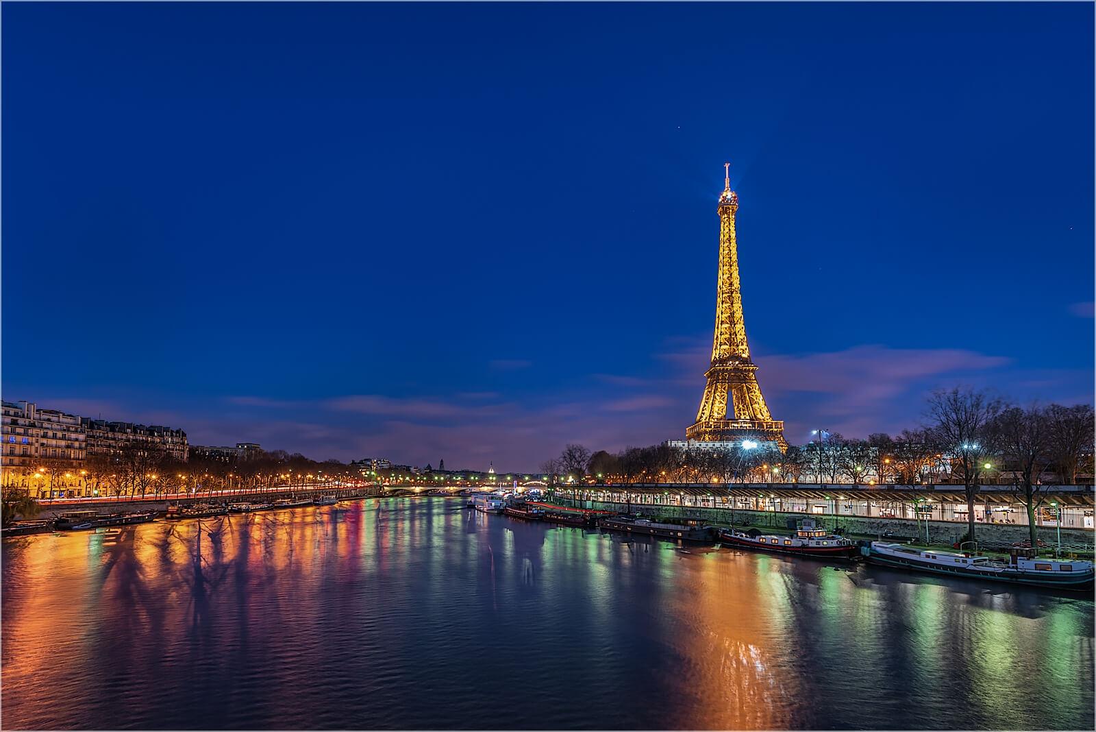 Wanddeko Paris Seine mit Eifelturm