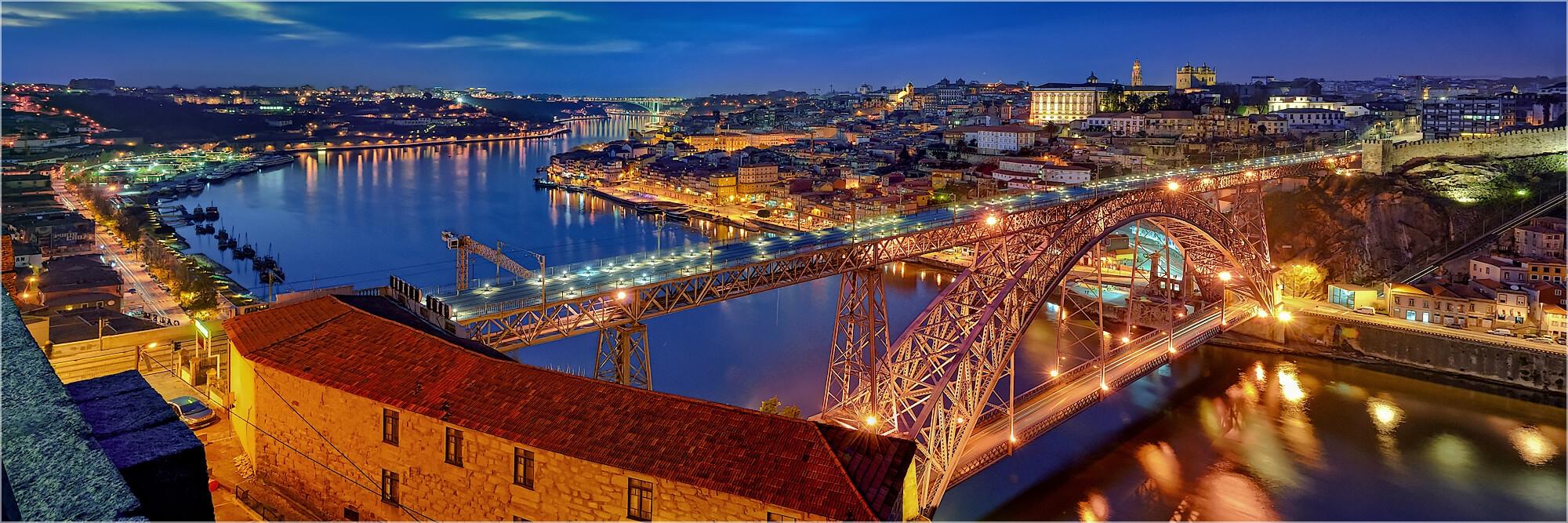 Panoramabild Porto Portugal Altstadt