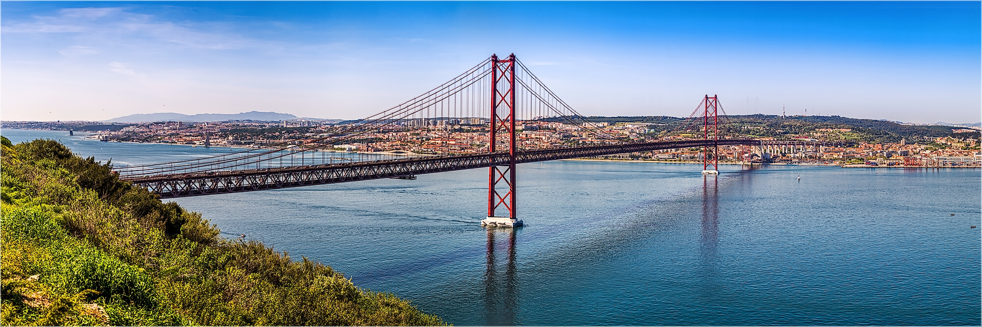 Panoramabild Lissabon Brücke des 25. Abril