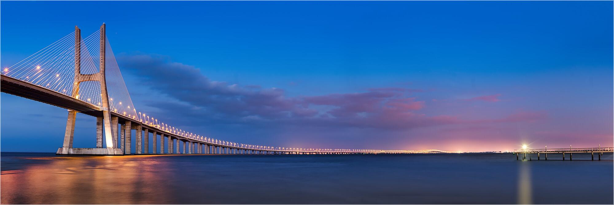 Panoramabild Vasco da Gama Brücke Portugal Lissabon