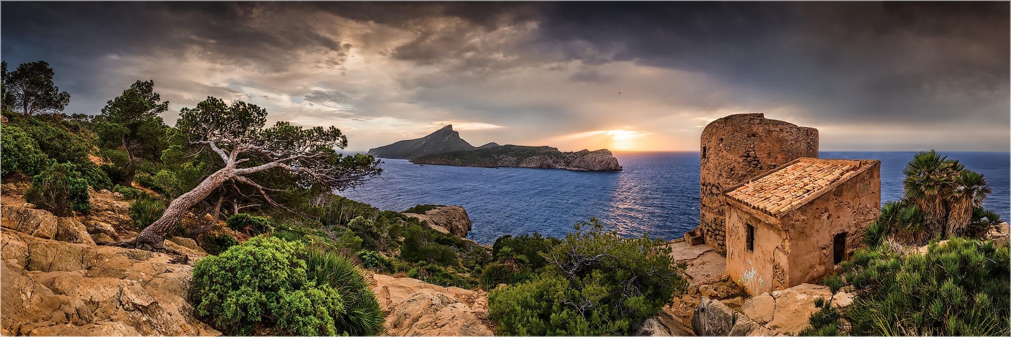 Panoramafoto Spanien Mallorca am Torre en Basset