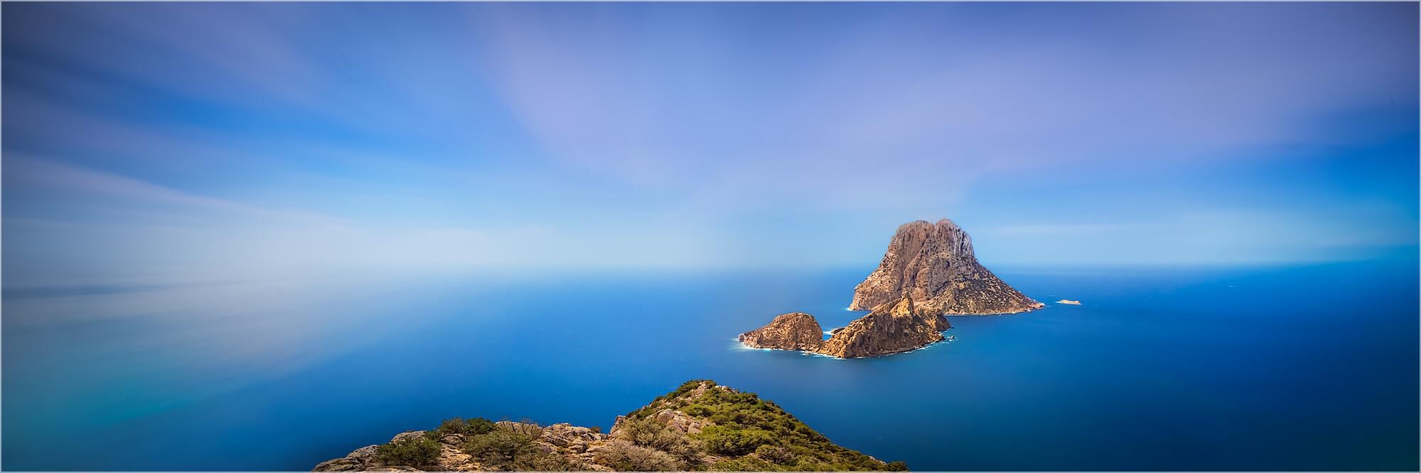 Panoramafoto Ibiza Es Vedra Felsen Torre de Pirata