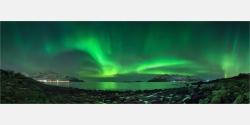 Panoramabild Polarlicht Aurora Borealis in Norwegen
