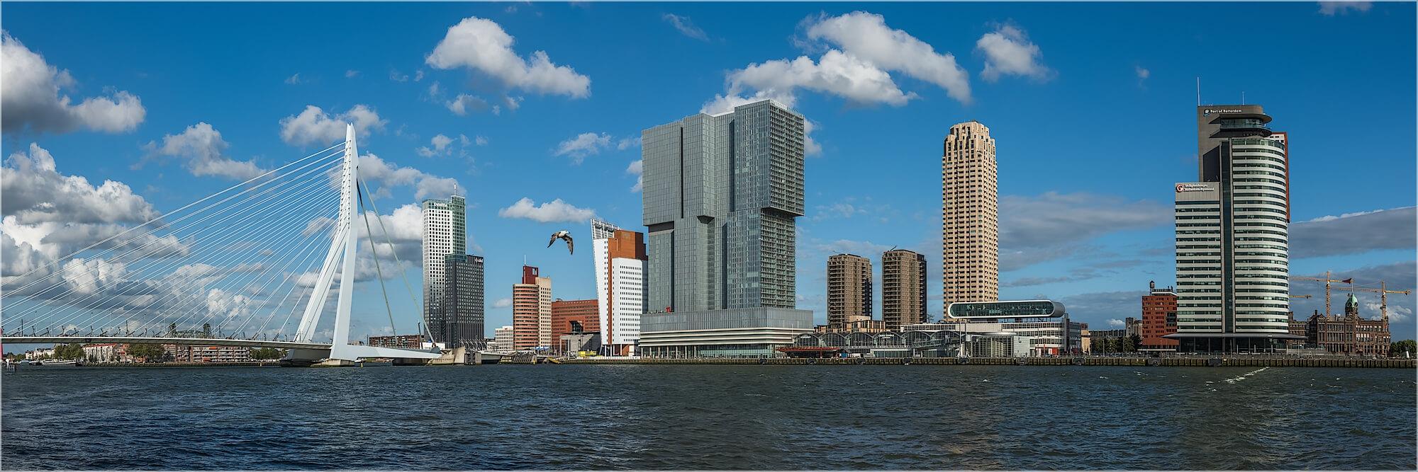 Panoramafoto Skyline von Rotterdamm Holland